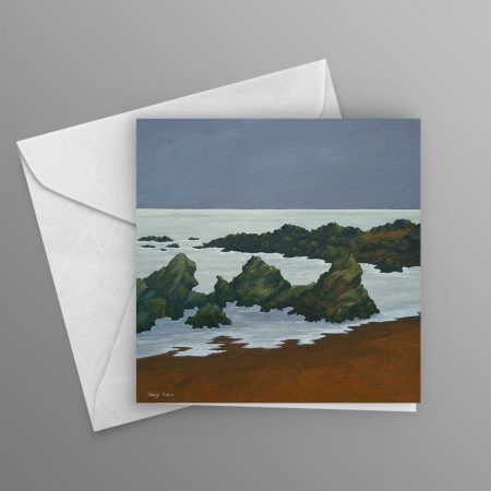 Black-Rocks-and-Silver-Sea-greeting-card-square