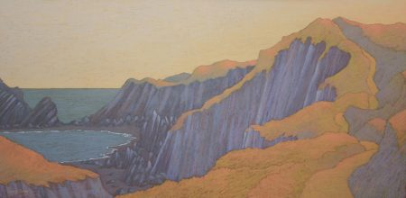 Cliff Top Path Framed Size 112cm x 62cm