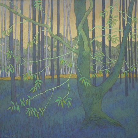 In the Shade of the Tall Forest Pines Framed Size 89 x 89cm