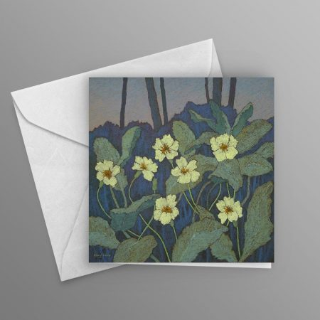 Primroses-on-a-Shady-Bank-greeting-card-square