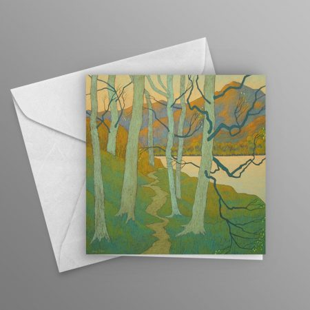 Silver-Birch-beside-the-Lake-greeting-card-square