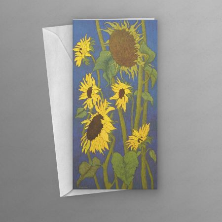 Sunflowers-greeting-card-tall