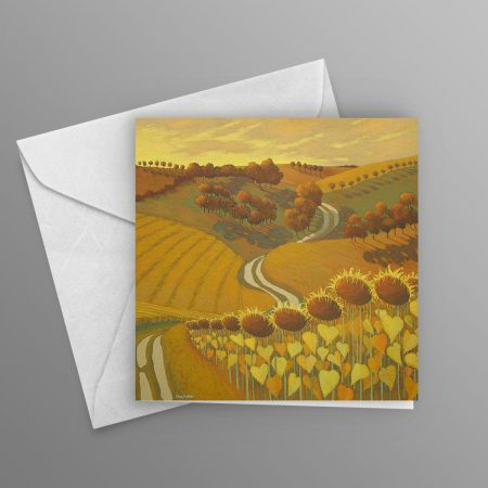 Towards-the-Valley-of-the-Sunflowers-greeting-card-square