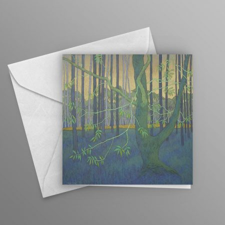 in-the-shade-of-the-tall-forest-pines-greeting-card-square