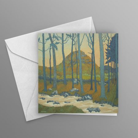 rushing-towards-the-lake-greeting-card-square