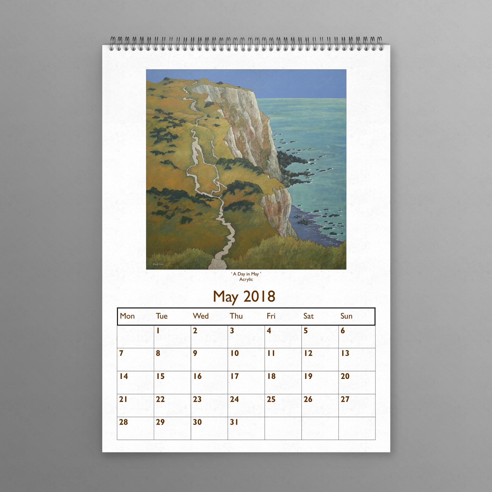 2018 calendar a3 size cheryl culver